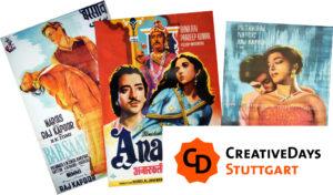 The Art of Indian Film - Creative Days Stuttgart. (Montage_Filmplakate_Indische)