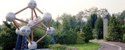 Kleine Modellstadt - Minidomm. Bild: C.Konrad + St.Schneider Minidommarchiv 1991. (Atominum Brüssel_497_5)