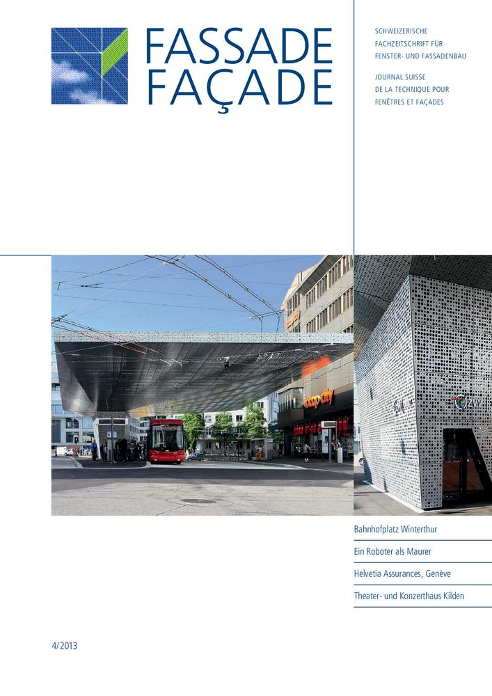 Titelbild Fassade, Ausgabe 4/2013.