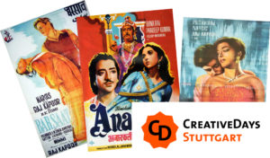 The Art of Indian Film - Creative Days Stuttgart. (Montage_Filmplakate_Indische)