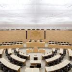 Licht entfesselt - Die Vitalisierung eines gefangenen Raums - Das Gebäude des Landtags BW. Foto: Marcus Ebener. (praxis_37-17_LandtagStuttgart_05)